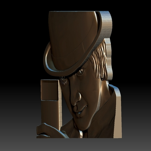Portrait STL bas-relief Clockwork orange 3D Print 259195