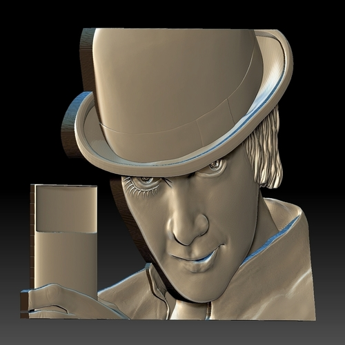 Portrait STL bas-relief Clockwork orange 3D Print 259197