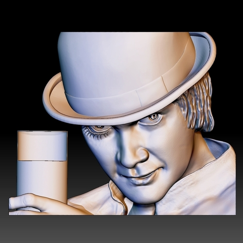 Portrait STL bas-relief Clockwork orange 3D Print 259200