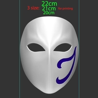 Small Vega Mask - Street Fighter Cosplay 3D print model 3D Printing 259230