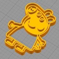 Small PEPPA PIG  COOKIE CUTTER 3D Printing 259285