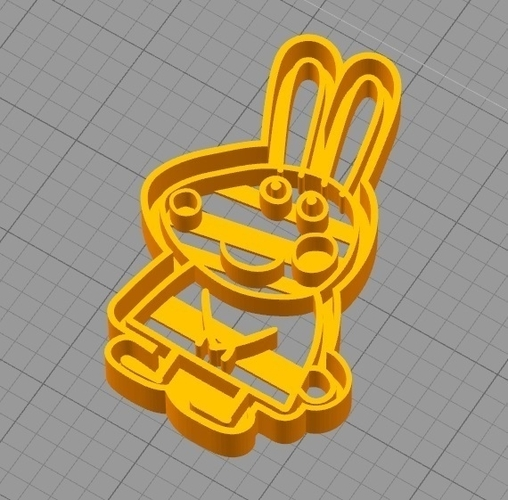REBECCA RABBIT (from PEPPA PIG) COOKIE CUTTER 3D Print 259292