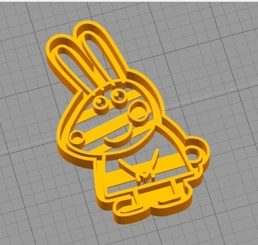 REBECCA RABBIT (from PEPPA PIG) COOKIE CUTTER 3D Print 259293