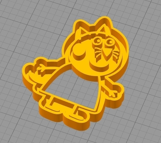 CANDY CAT (from PEPPA PIG) COOKIE CUTTER 3D Print 259294