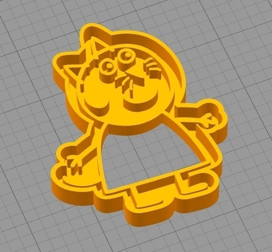 CANDY CAT (from PEPPA PIG) COOKIE CUTTER 3D Print 259295