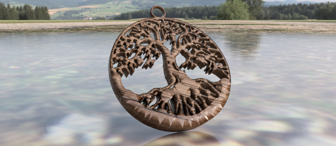 Celtic tree earrings 3D Print 259354