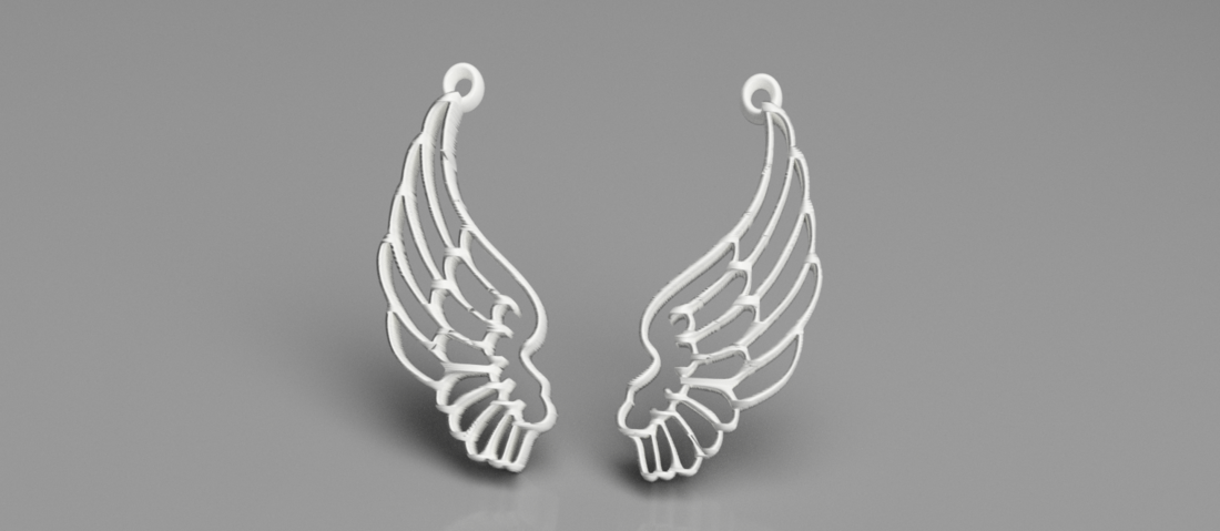 Angel wing earrings 3D Print 259358