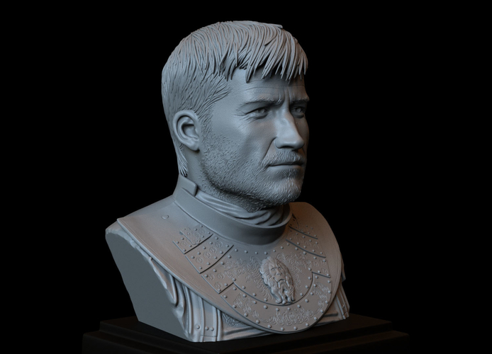 Jaime Lannister, Game Of Thrones Portrait, Bust, 200mm 3D Print 259387