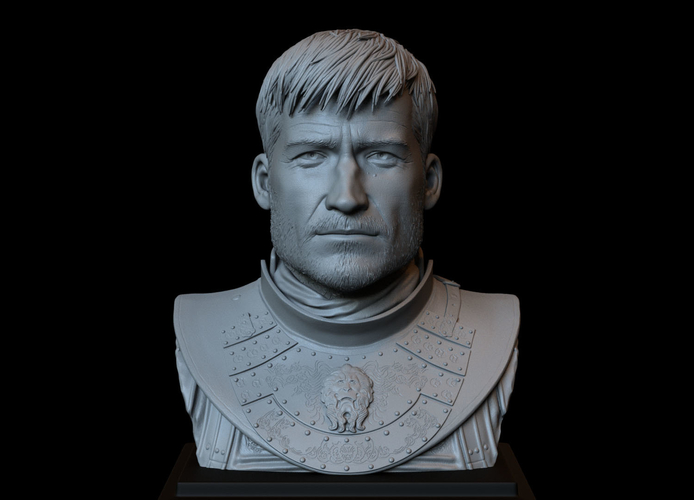 Jaime Lannister, Game Of Thrones Portrait, Bust, 200mm 3D Print 259388