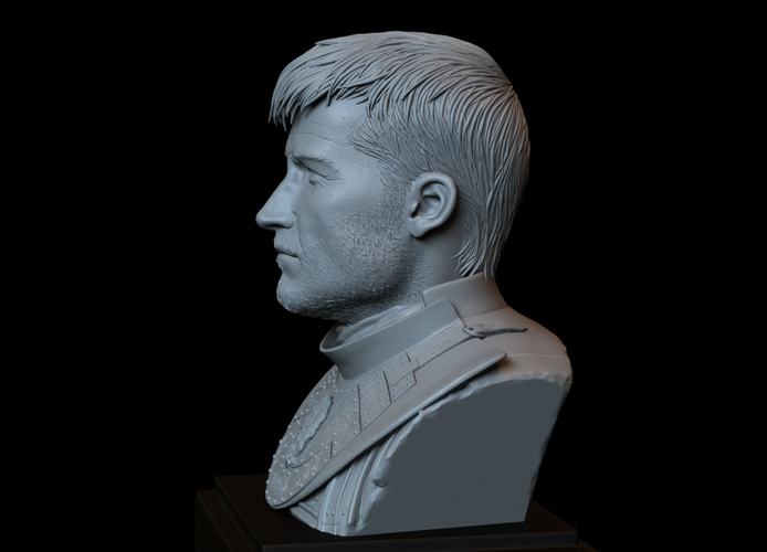 Jaime Lannister, Game Of Thrones Portrait, Bust, 200mm 3D Print 259390
