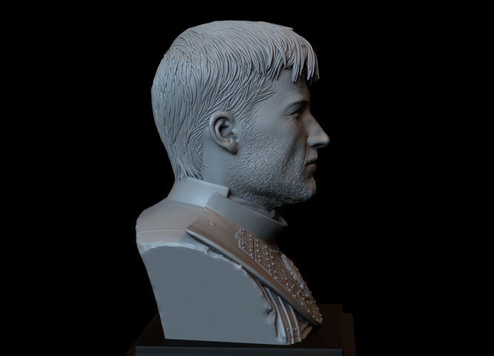 Jaime Lannister, Game Of Thrones Portrait, Bust, 200mm 3D Print 259392