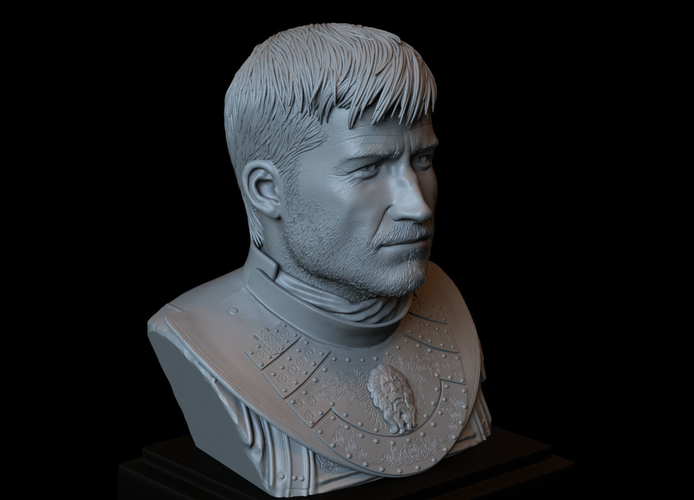 Jaime Lannister, Game Of Thrones Portrait, Bust, 200mm 3D Print 259393