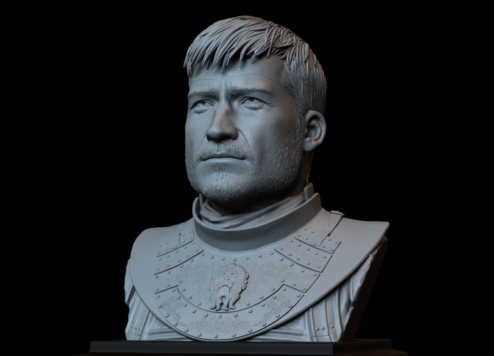 Jaime Lannister, Game Of Thrones Portrait, Bust, 200mm 3D Print 259394