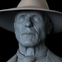 Small Ed Harris, Man In Black,  Westworld, Bust, 200mm 3D Printing 259404