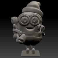 Small 3D Minion Bob Christmas Theme 3D Printing 259450