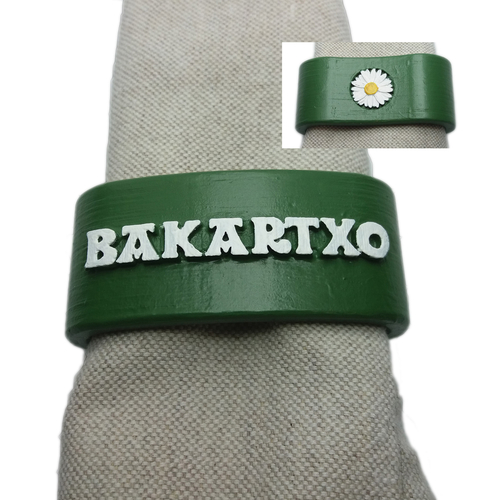 BAKARTXO 3D Napkin Ring with daisy 3D Print 259547