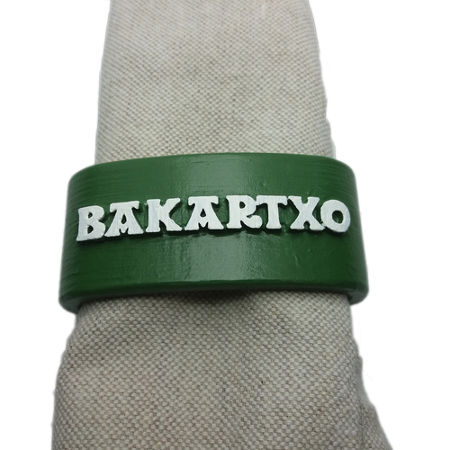 BAKARTXO 3D Napkin Ring with daisy 3D Print 259548