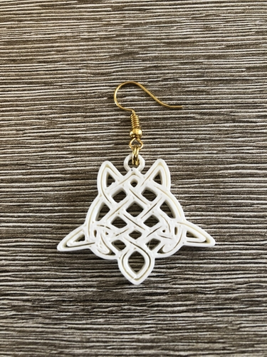 Celtic turtle earrings (2.0) 3D Print 259556