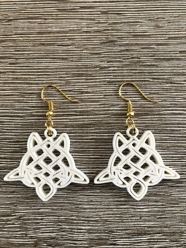 Celtic turtle earrings (2.0) 3D Print 259557