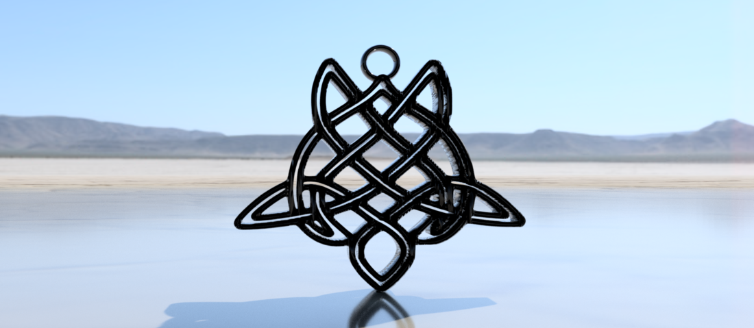 Celtic turtle earrings (2.0) 3D Print 259558