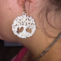 Small Celtic tree of life earrings (2.0) 3D Printing 259609