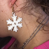 Small Snowflake earrings 3D Printing 259610