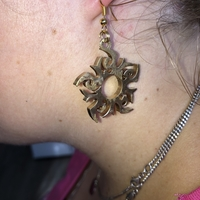Small Tribal sun earrings 3D Printing 259611