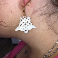 Small Celtic turtle earrings (2.0) 3D Printing 259613