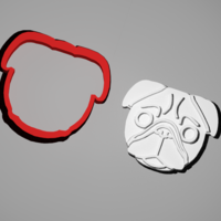 Small Pug cookie cutter 3D Printing 259708
