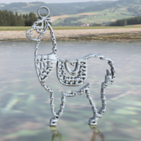Small Llama earrings 3D Printing 259791