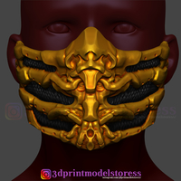 3d Printed Scorpion Mask From Mortal Kombat Halloween Costume