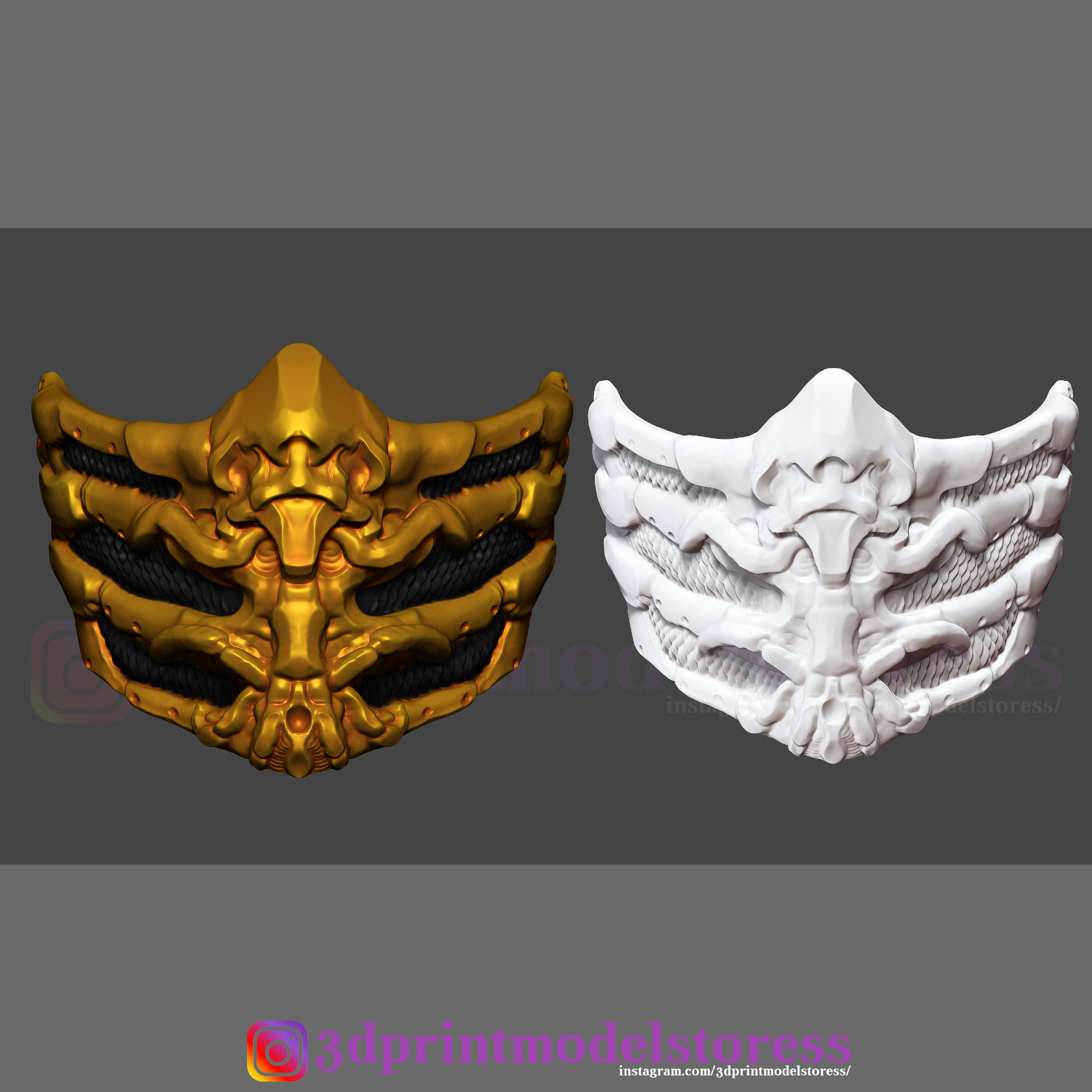 3d Printed Scorpion Mask From Mortal Kombat Halloween Costume