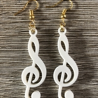Small Musical note earrings 3D Printing 259896