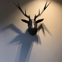 Small Low Poly Deer Head 3D Printing 260061
