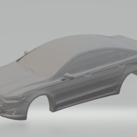 Small ford fusion  low poly 3D Printing 260079