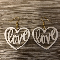 Small Love earrings 3D Printing 260134