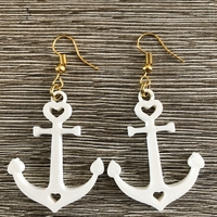 Small Anchor earrings 3D Printing 260233