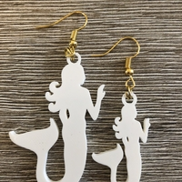 Small Mermaid earrings (two files!) 3D Printing 260244