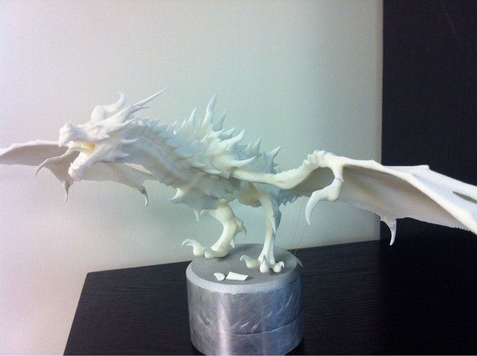 Low-Medium Poly Alduin from Skyrim 3D Print 26026