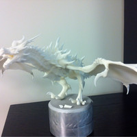 Small Low-Medium Poly Alduin from Skyrim 3D Printing 26026