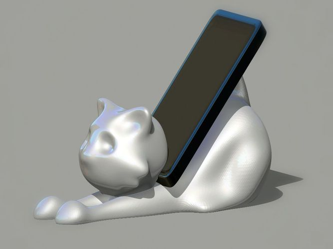 Cat Smarphone Holder 3D Print 26028
