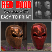 Small Red Hood Rebirth Helmet -  Red Hood Mask Jason Todd Superhero  3D Printing 260334