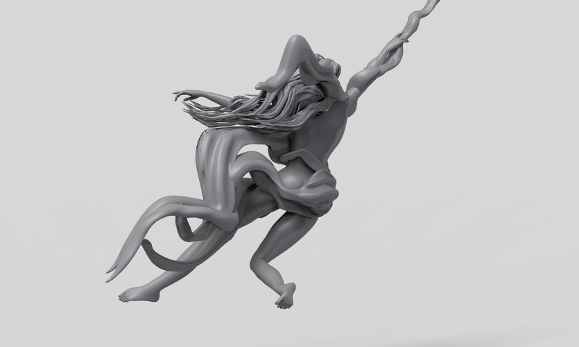 Pole Dance Girl 3D Print 260413