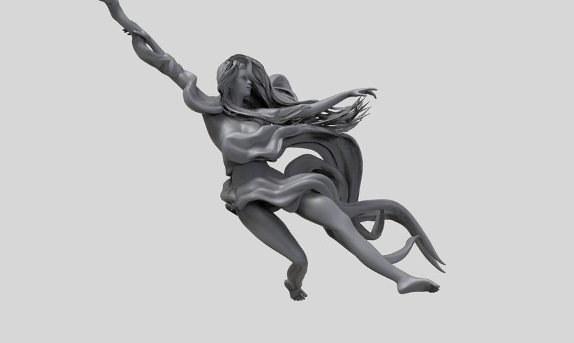 Pole Dance Girl 3D Print 260414