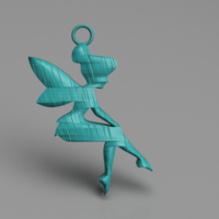 Small Tinker Bell earrings 3D Printing 260593