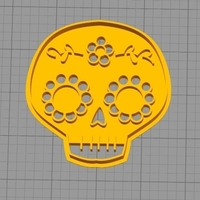 Small MEXICAN SKULL COOKIE CUTTER 3D Printing 260694