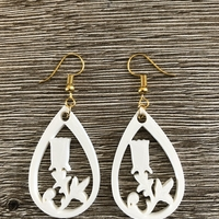 Small Tulip earrings 3D Printing 260880