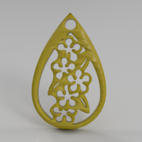Small Forget-me-not earrings 3D Printing 260888