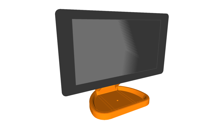 PiMac - Raspberry Pi 7 Inch Touch Screen Stand (with Camera) 3D Print 261054