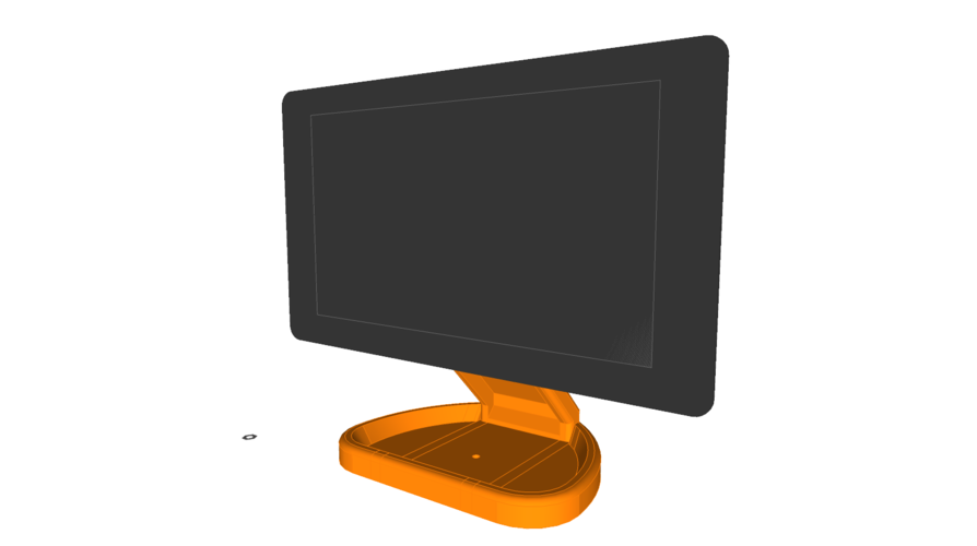 PiMac - Raspberry Pi 7 Inch Touch Screen Stand (with Camera) 3D Print 261059